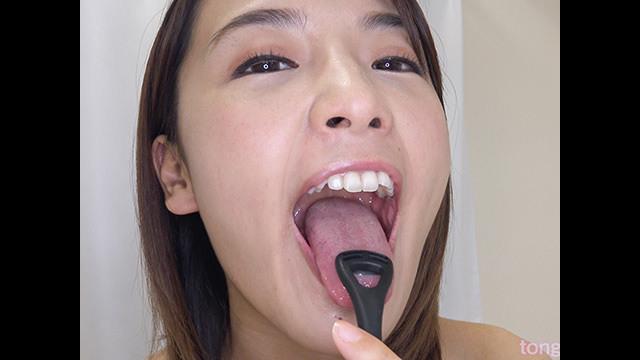 【舌フェチ唾フェチ】向井藍のエロい舌・唾・口の臭い堪能コース2